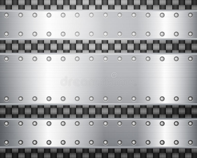 Download Carbon and metal plates stock vector. Image of heavy - 25858649