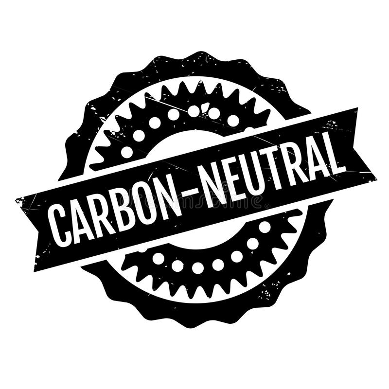 Carbon-neutral rubber stamp stock illustration