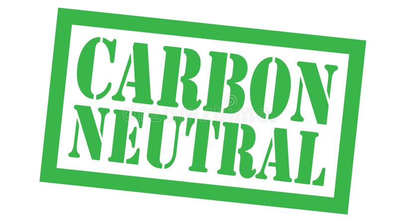 Carbon neutral stamp on white royalty free illustration
