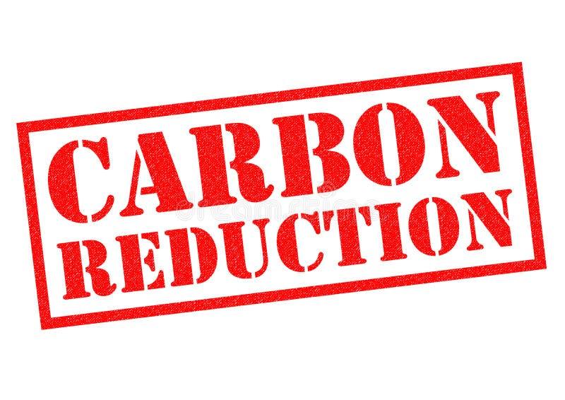 CARBON REDUCTION vector illustration
