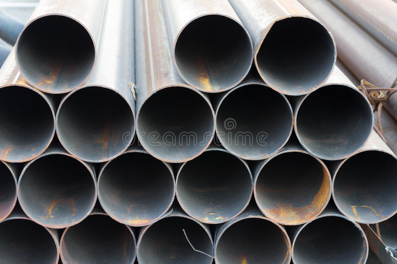 Carbon Steel pipe. For construction industry royalty free stock images