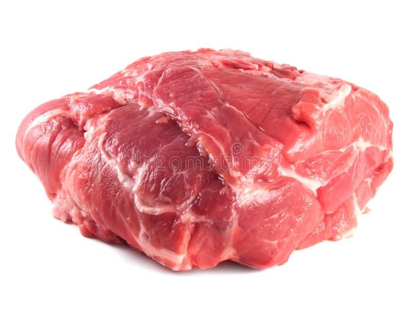 Carbonade do pescoço da carne de porco. Carne de carne de porco crua fresca. foto de stock