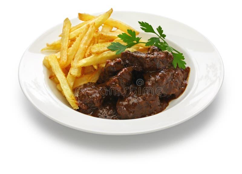 Carbonade flamande, φλαμανδικό stew βόειου κρέατος, βελγική κουζίνα στοκ φωτογραφία με δικαίωμα ελεύθερης χρήσης