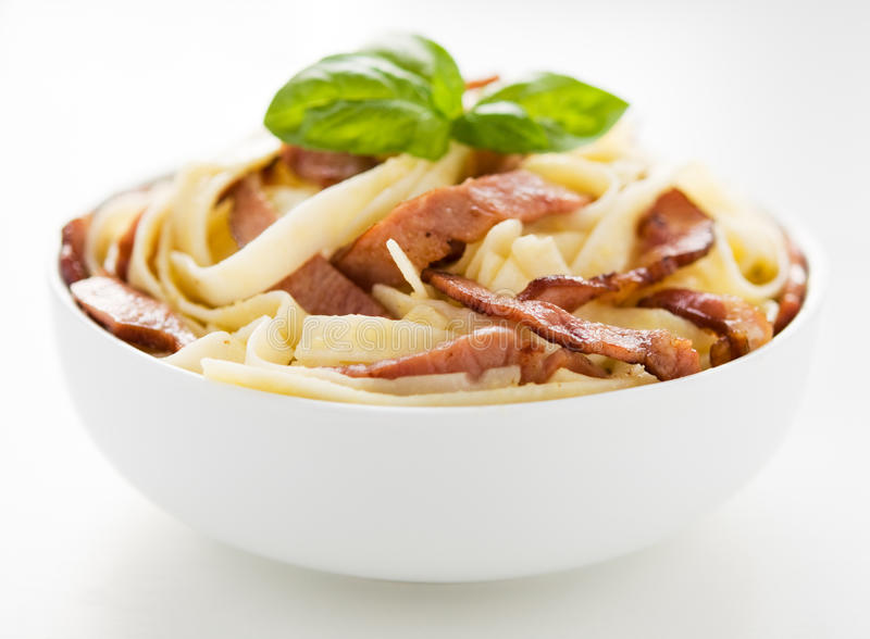 Carbonara alla ζυμαρικών στοκ εικόνες με δικαίωμα ελεύθερης χρήσης