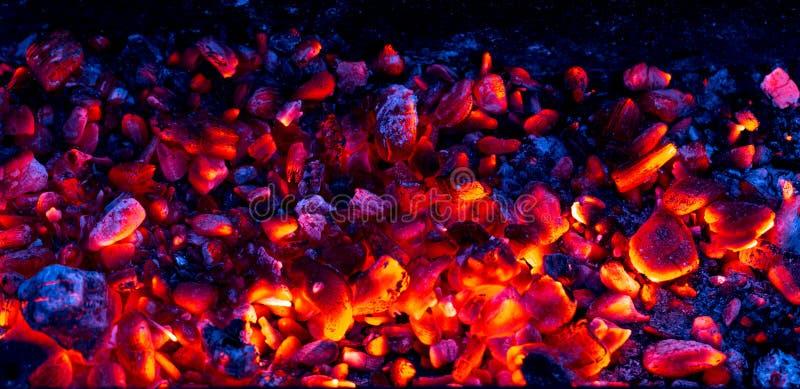 Carbone bruciante come fondo fotografie stock libere da diritti