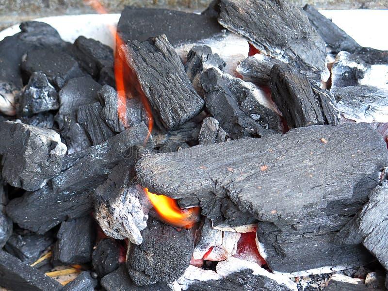Carbone chaud photographie stock libre de droits