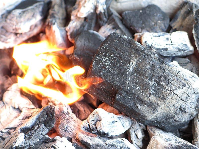 Carbone chaud image libre de droits
