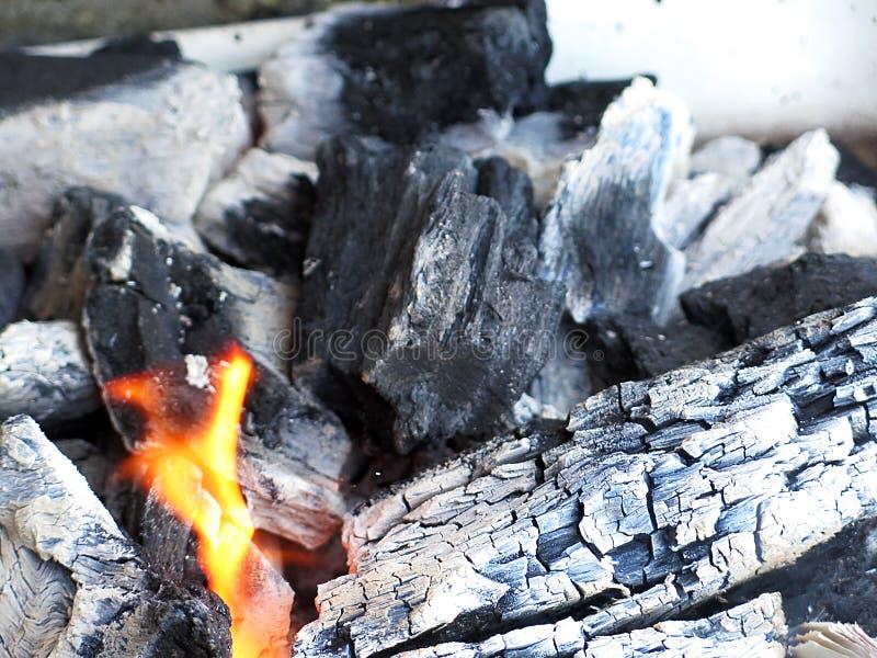 Carbone chaud photo libre de droits