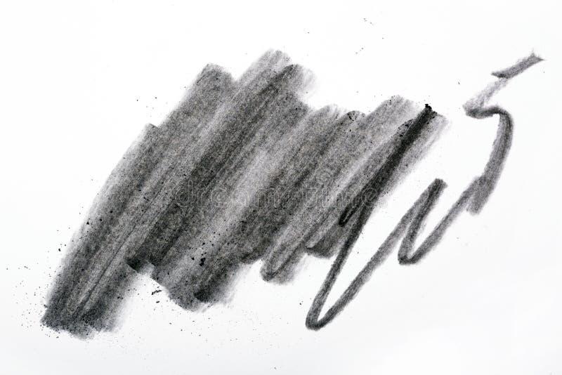 Carbone del nero del ` s dell'artista con la macchia fotografia stock