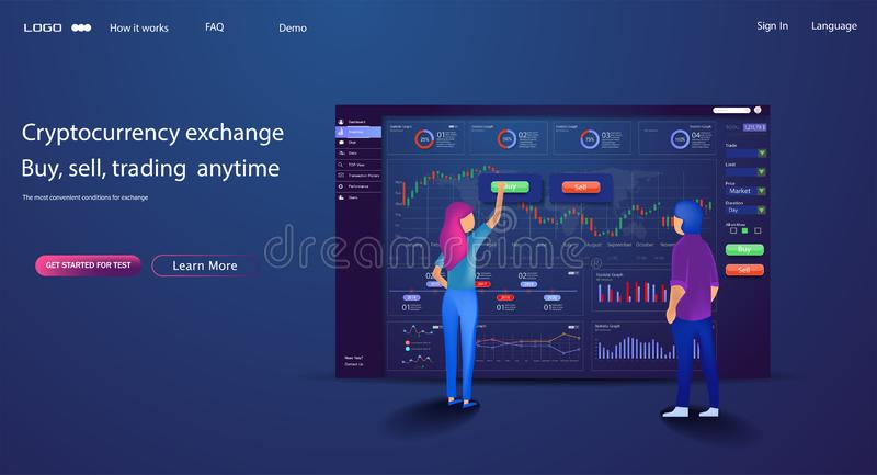 Carbone di finanza del modello di progettazione di commercio del sito Web di vettore illustrazione vettoriale