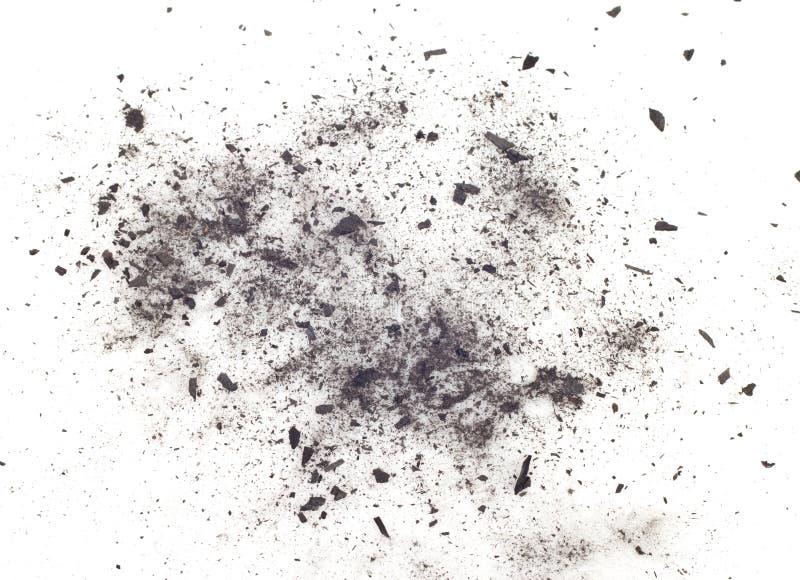 Carbone di legna immagini stock