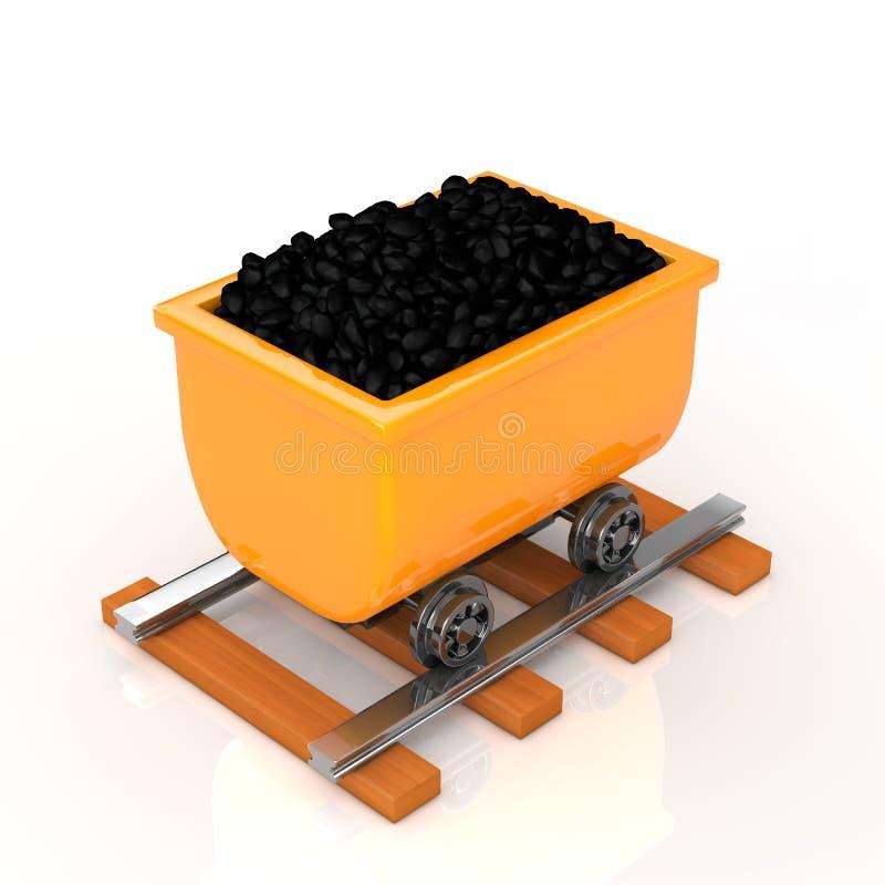 Carbone di trasporto su un tram illustrazione di stock