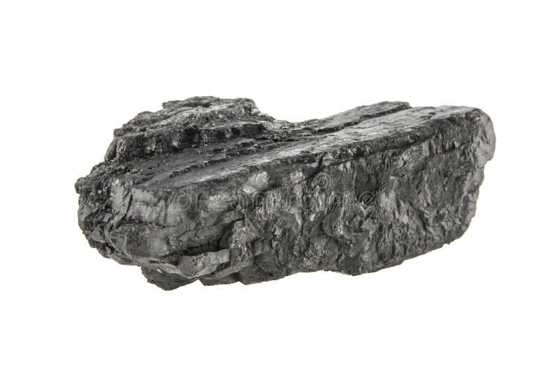 Carbone isolato su bianco immagine stock