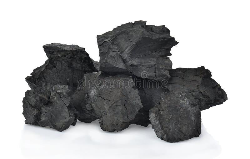 Carbones en el fondo blanco imagen de archivo