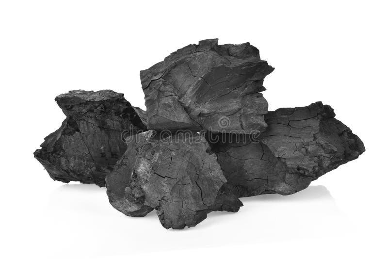 Carbones en el fondo blanco imágenes de archivo libres de regalías
