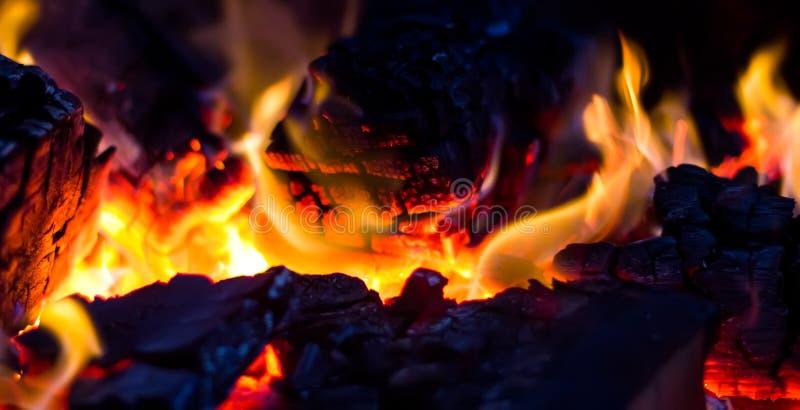 Carboni Burning fotografia stock