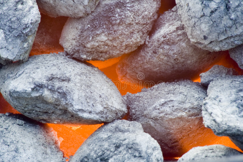 Carboni del barbecue immagini stock