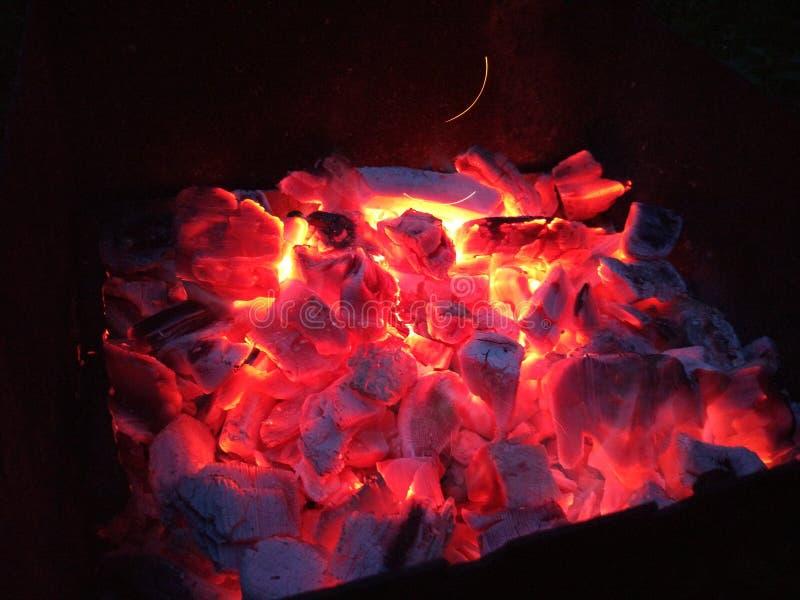 Carboni del BBQ fotografia stock