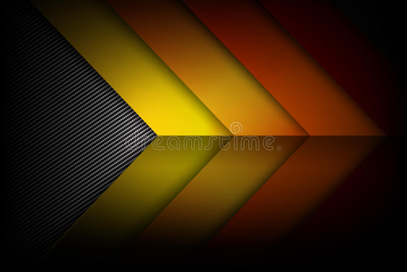 Carbono oscuro y negro del fondo rojo abstracto de amarillo anaranjado libre illustration