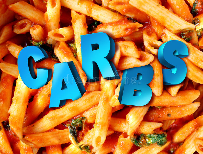 Carbs Carbohydrates royalty free illustration