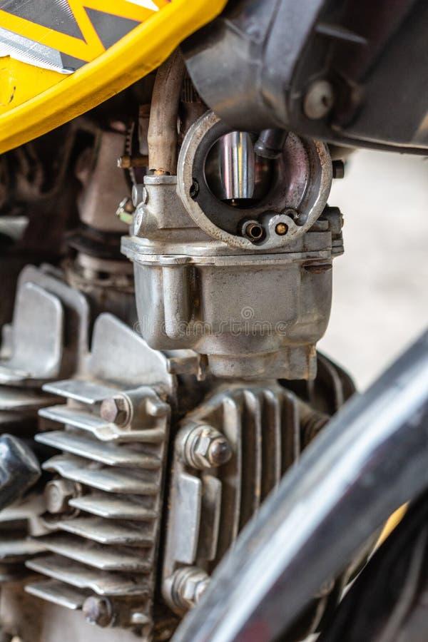 Carburador de la motocicleta imagenes de archivo