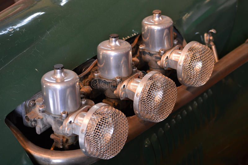 Carburateurs intégrés de voiture photo libre de droits