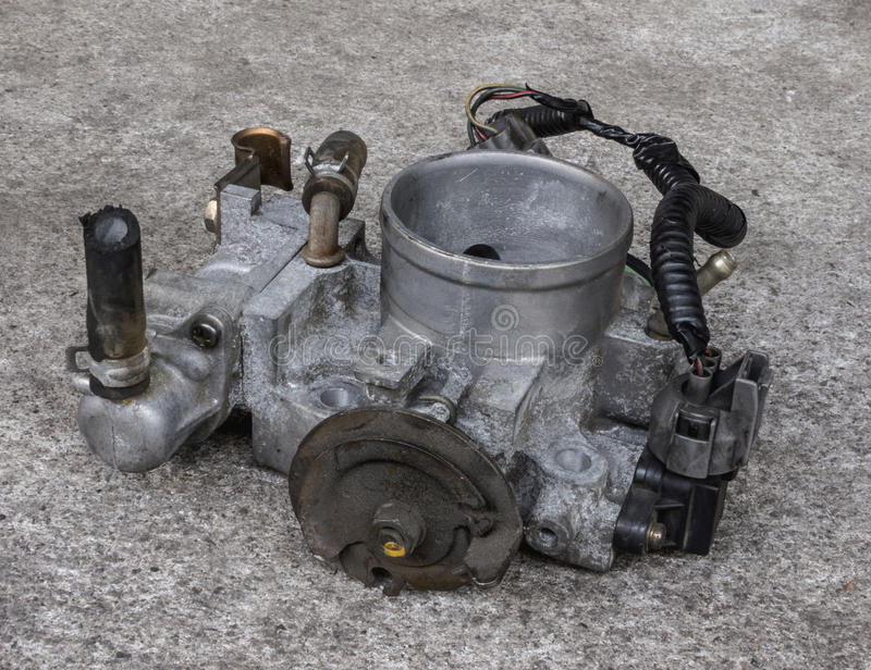 Carburetor for motorcycle royalty free stock photo