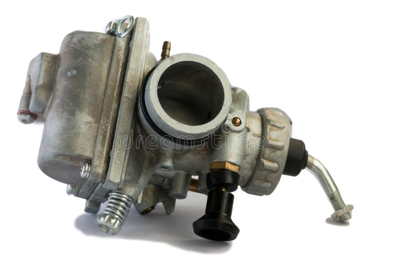 Carburetor for motorcycle part engine royalty free stock photography