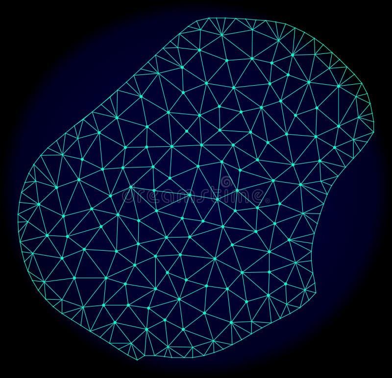 Carcaça poligonal Mesh Vetora Abstract Map de Nauru ilustração royalty free