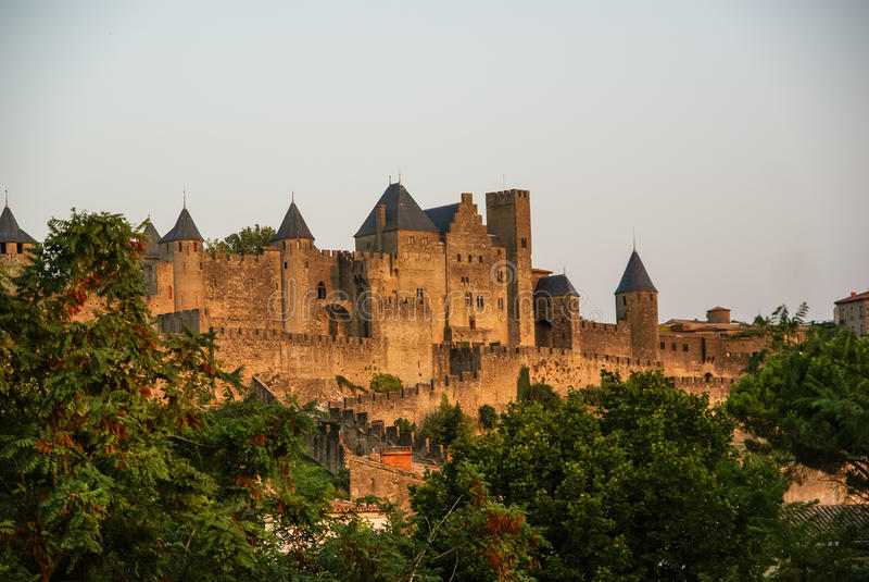Carcasona, Francia del sur fotografía de archivo