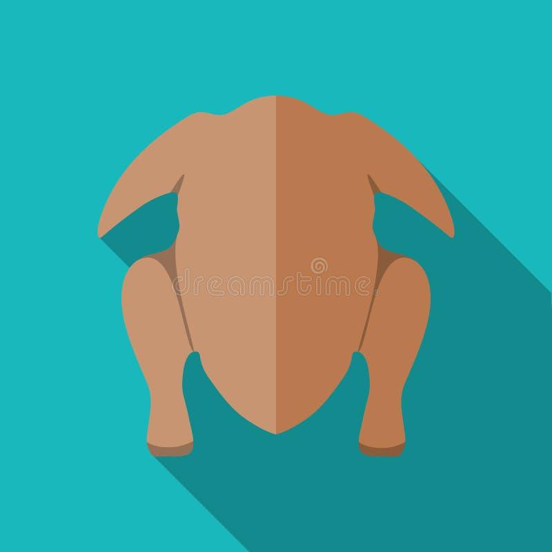 Carcass chicken or turkey icon. Illustration in flat style vector illustration