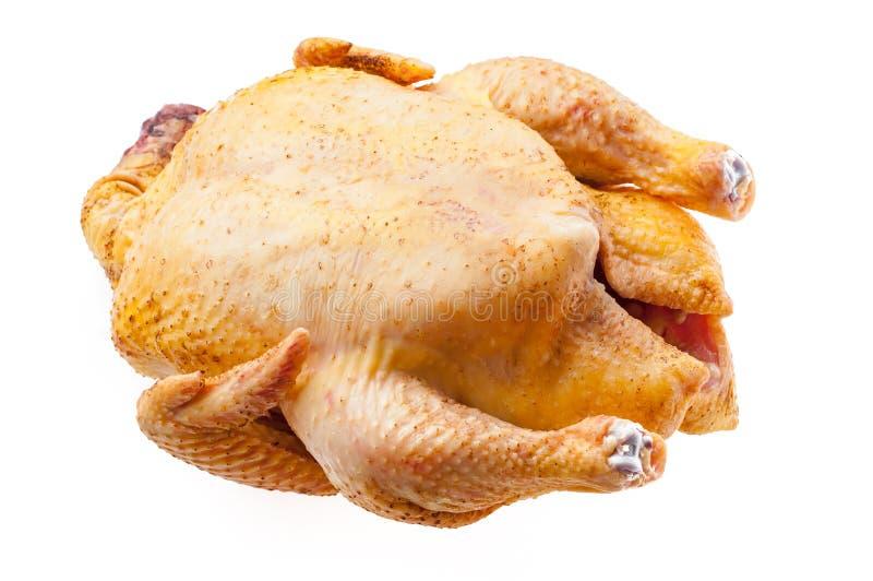 Carcassa fresca del pollo isolata tacchino crudo gallinacei sul backgro bianco fotografie stock