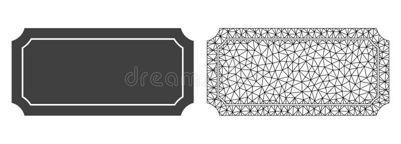 Carcasse Mesh Ticket Frame de vecteur et icône plate illustration libre de droits