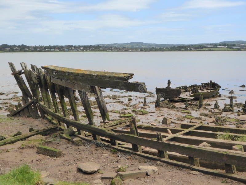 Carcasses en bois de bateau photo stock