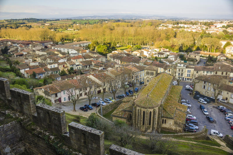 Carcassone, France stock images