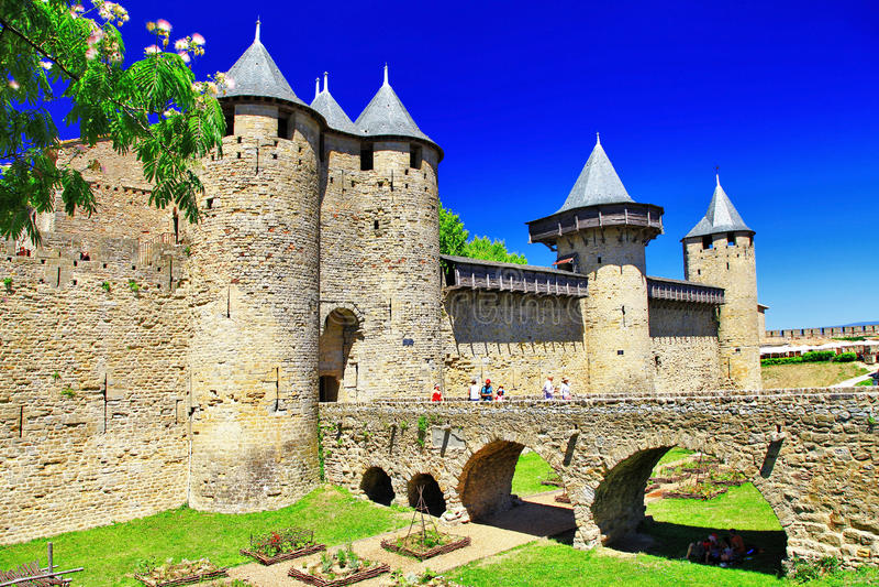Carcassonne (Γαλλία, Languedoc) στοκ εικόνα με δικαίωμα ελεύθερης χρήσης