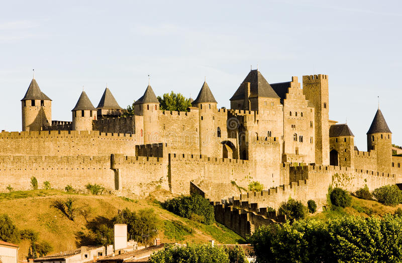 carcassonne стоковое фото rf