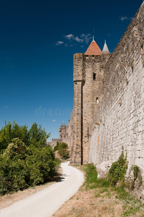 Carcassonne stockbilder