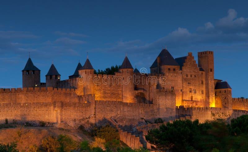 Carcassonne stock afbeelding