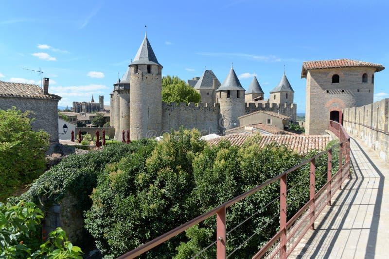 Carcassonne stockfotos