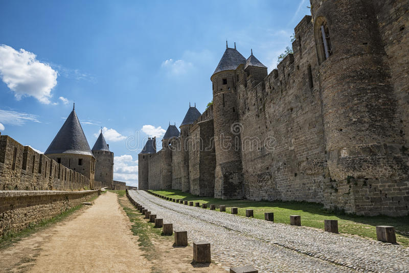 Download Carcassonne photo stock. Image du médiéval, monde, tourisme - 76080352