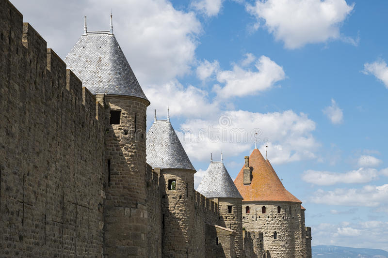 Download Carcassonne image stock. Image du pierre, architecture - 76080607