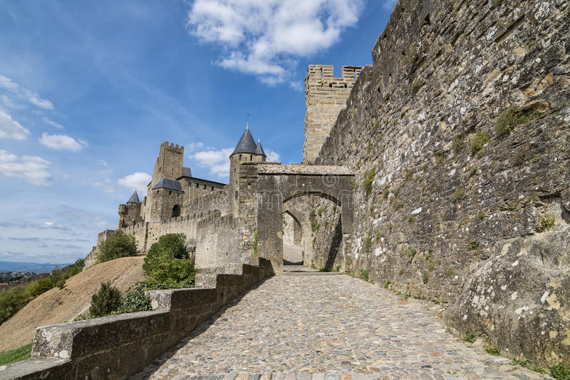 Download Carcassonne photo stock. Image du enrichi, architecture - 76081676