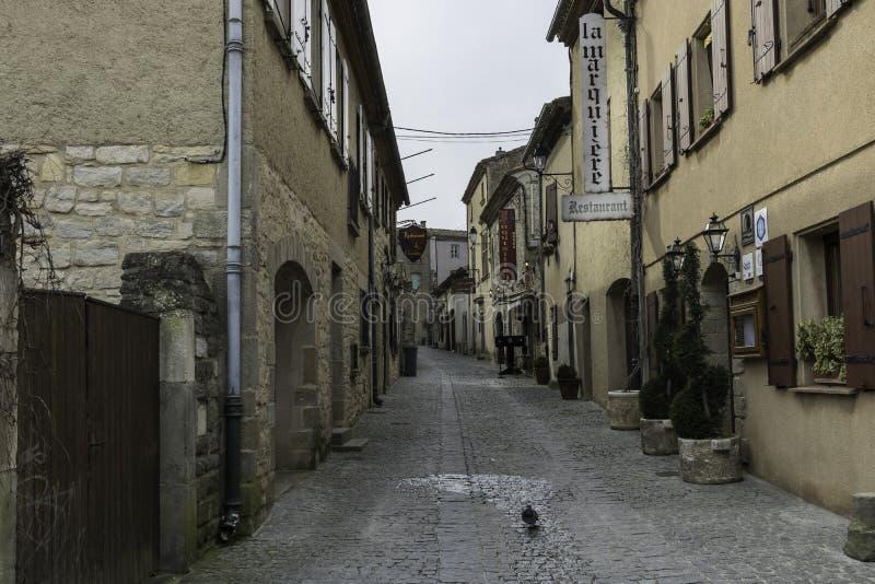 Carcassonne Aude, Frankrike, 24 02 18 royaltyfria bilder