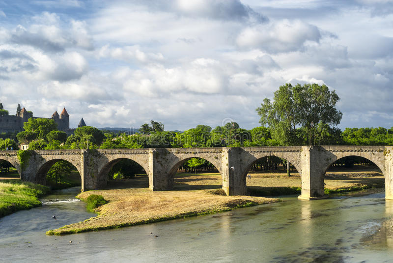 Carcassonne (Aude, Frankrike) arkivbild