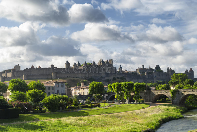 Carcassonne (Aude, Frankrike) royaltyfria foton