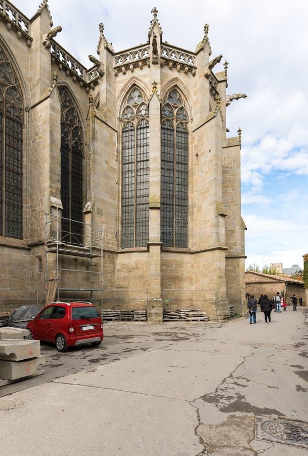 Carcassonne basilika av St. Nazaire royaltyfri bild