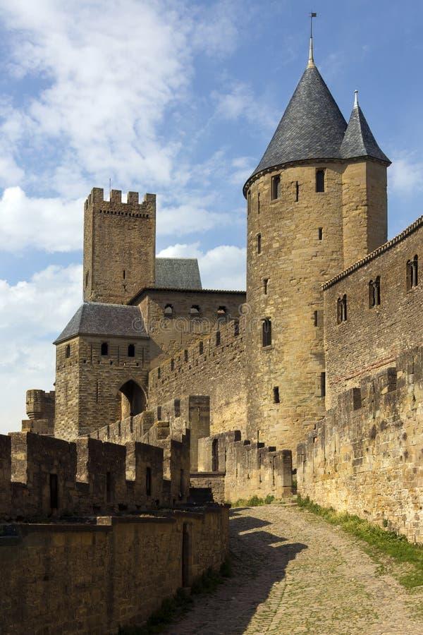 Carcassonne Citadel - France stock photo