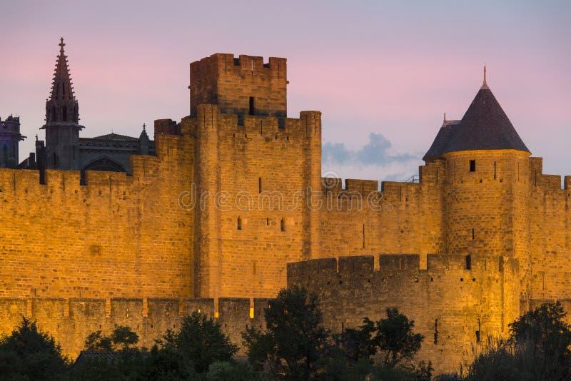 Carcassonne Citadel - France royalty free stock image