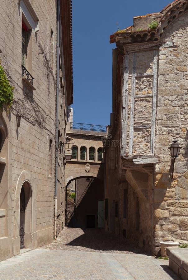 Carcassonne Den franska staden Aude södra Frankrike royaltyfria foton